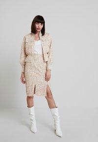 Foxiedox - QUINCY SKIRT - Pencil skirt - blush/multi - 1