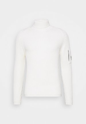 TURTLE NECK - Strickpullover - gauze white