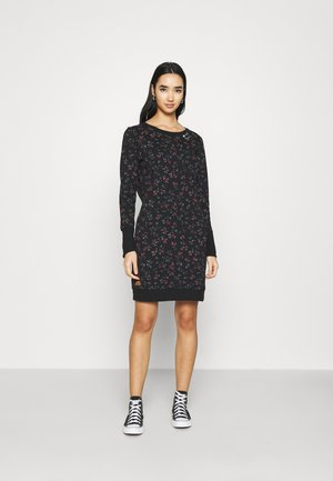 MENITA FLOWERS - Day dress - black