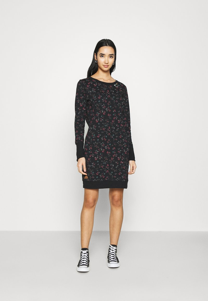 Ragwear - MENITA FLOWERS - Day dress - black