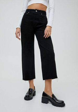 CROPPED - Jeans a sigaretta - black