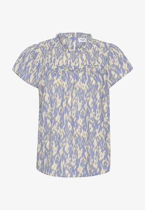 T-shirt print - blue ice batik animal