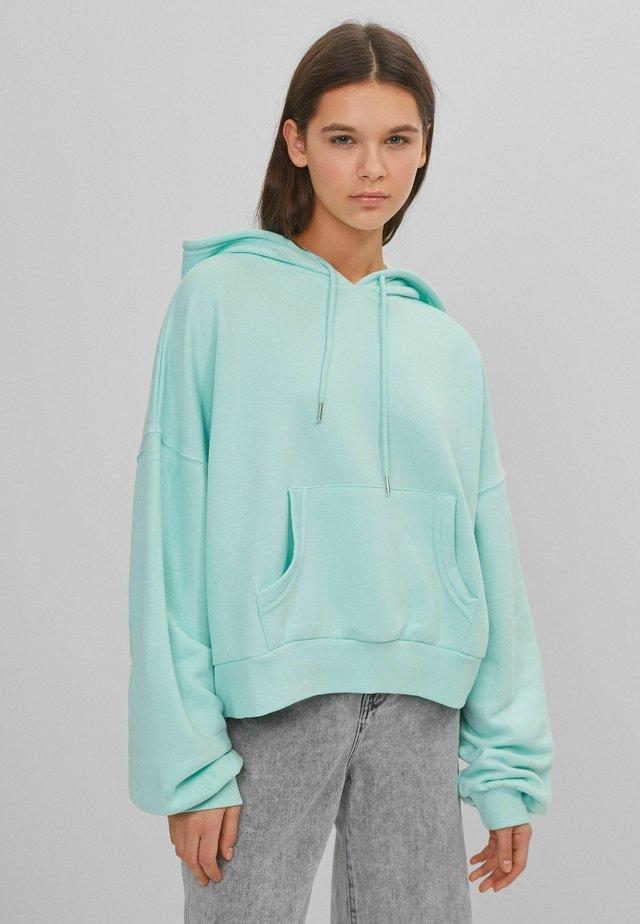 Bluza z kapturem - turquoise