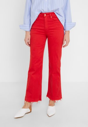 VINTAGE UNROLLED ILLUSION - Bootcut jeans -  red