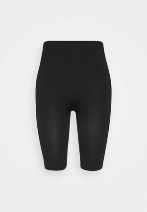 SEAMLESS RIB CYCLING SHORTS - Shorts - black