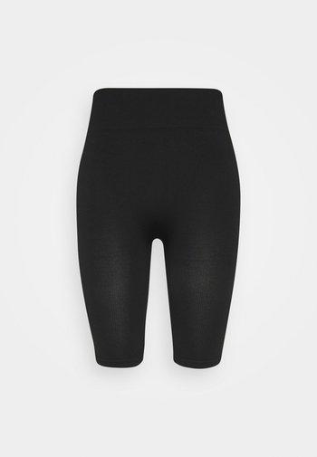 SEAMLESS RIB CYCLING SHORTS - Shorts - black