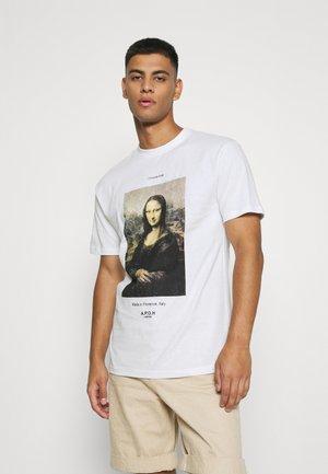 MONA LISA TEE - T-shirt imprimé - white