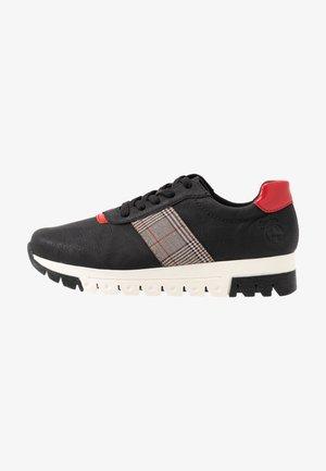 Sneakers laag - schwarz/flamme/grau rost