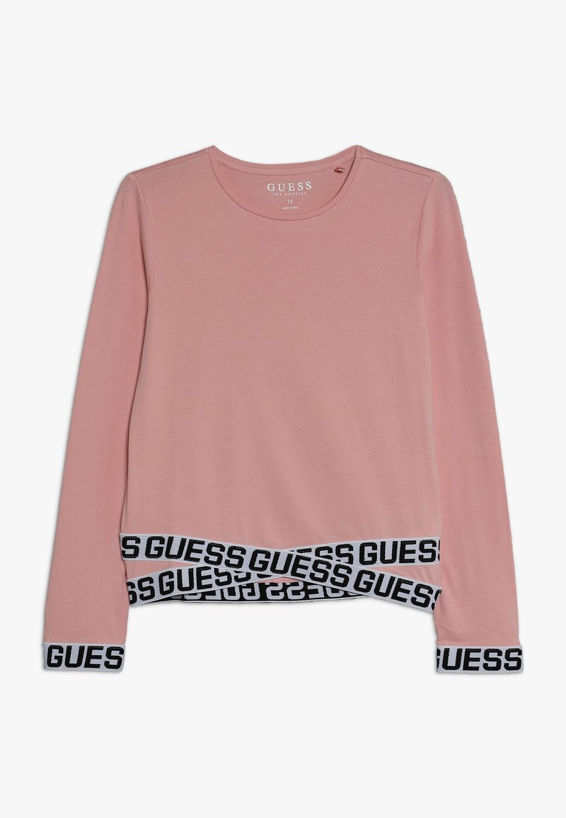 Guess - JUNIOR LOGO - Long sleeved top - slip pink