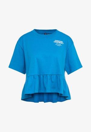 RUFFLE PEPLUM TEE - Printtipaita - cobalt blue