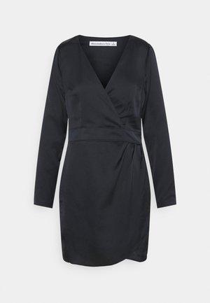 PARTY VNECK DRESS - Day dress - black