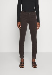 Marc O'Polo - ALBY SLIM - Trousers - dark chocolate - 0