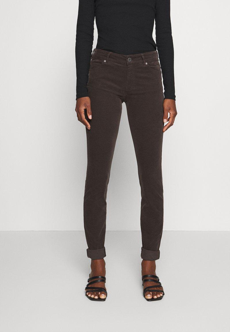 Marc O'Polo - ALBY SLIM - Trousers - dark chocolate