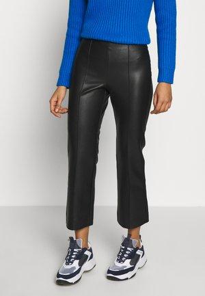 CROP KICK FLARE VEGAN - Pantaloni - black