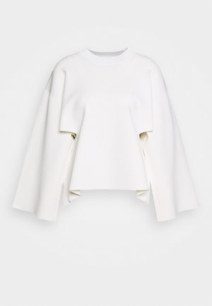 CREW NECK SIDE CUTOUT - Neule - ivory