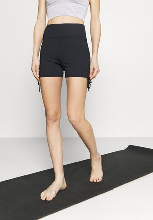 RUSHED SHORT - Trikoot - black