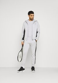 Lacoste Sport - PANT TAPERED - Tracksuit bottoms - silver chine/black - 1