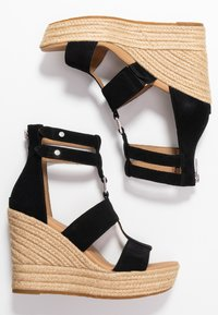UGG - KOLFAX - Sandály na vysokém podpatku - black - 3