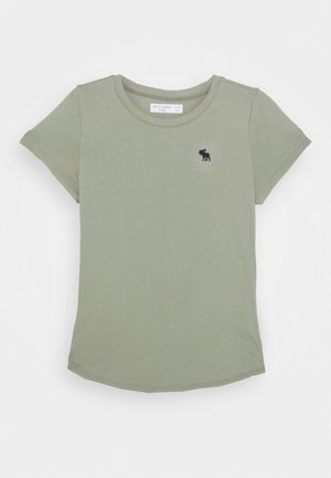 CURVE HEM SOLI - T-shirts - olive