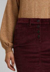 Esprit - PENCIL SKIRT - Pencil skirt - bordeaux red - 3