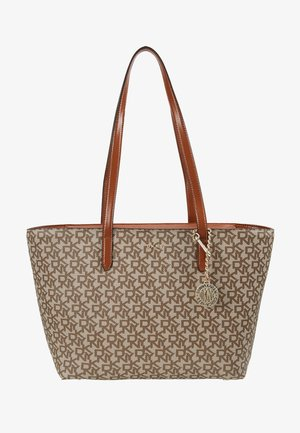 BRYANT MEDIUM TOTE LOGO - Handbag - chino/caramel