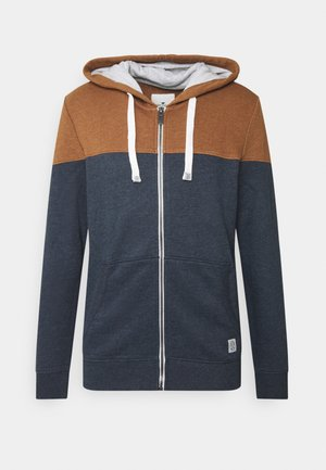 COLORBLOCK ZIPPER JACKET - Zip-up hoodie - brown oak