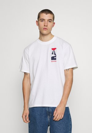 CLOUDY - T-shirt con stampa - white
