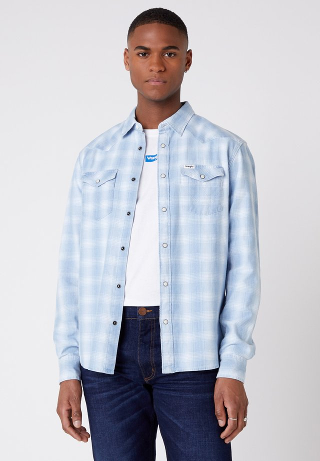 LS WESTERN - Shirt - light indigo