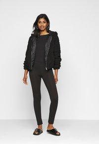 New Look Petite - SHORT BORG - Light jacket - black - 1