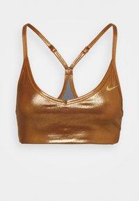 Nike Performance - INDY SHIMMER BRA - Sports bra - gold/tawny/metallic gold - 5