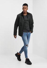 YOURTURN - Long sleeved top - mottled black - 1