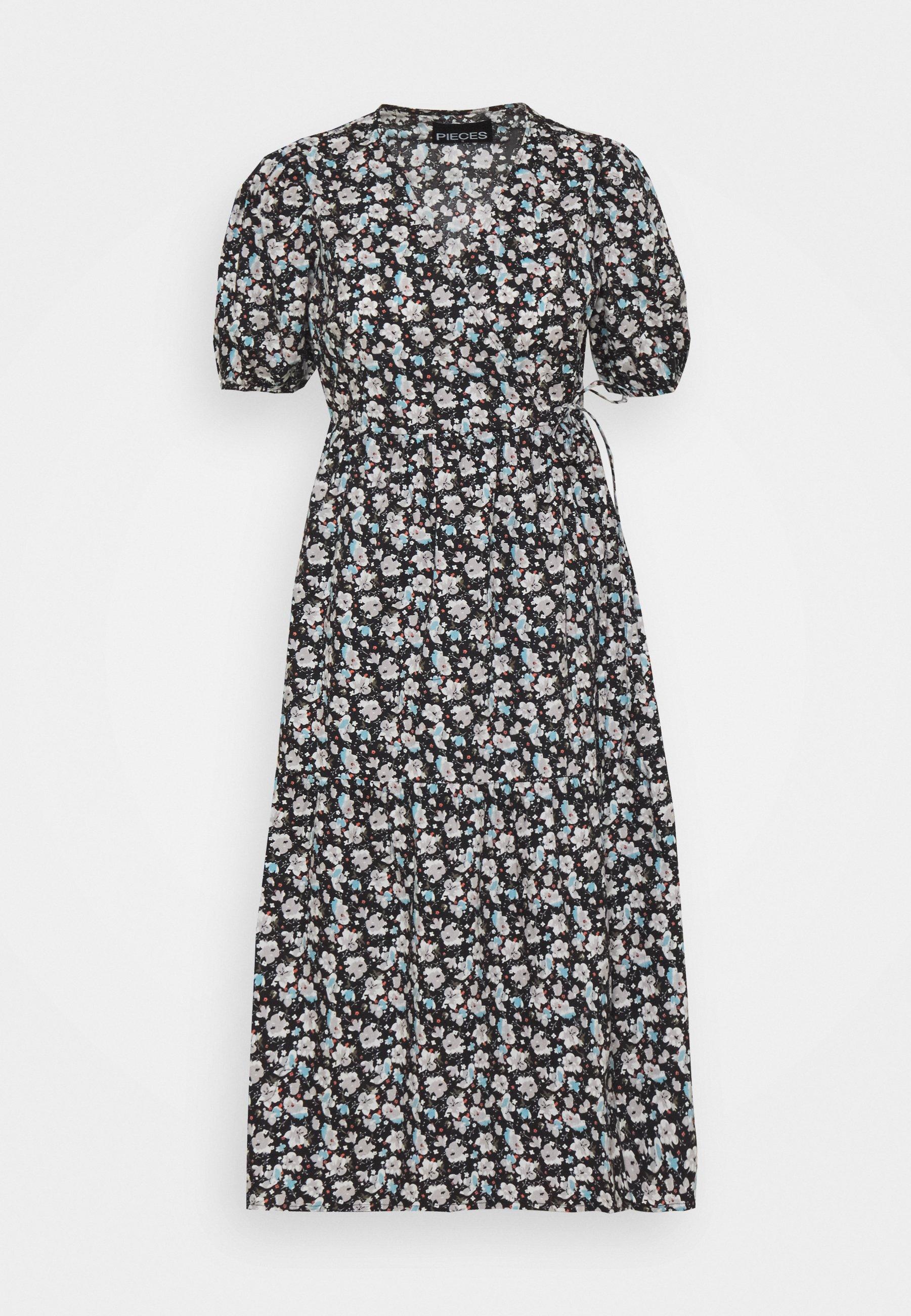 Women PCCOCCO MIDI WRAP DRESS  - Day dress