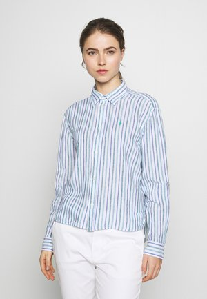 STRIPE - Button-down blouse - blue green