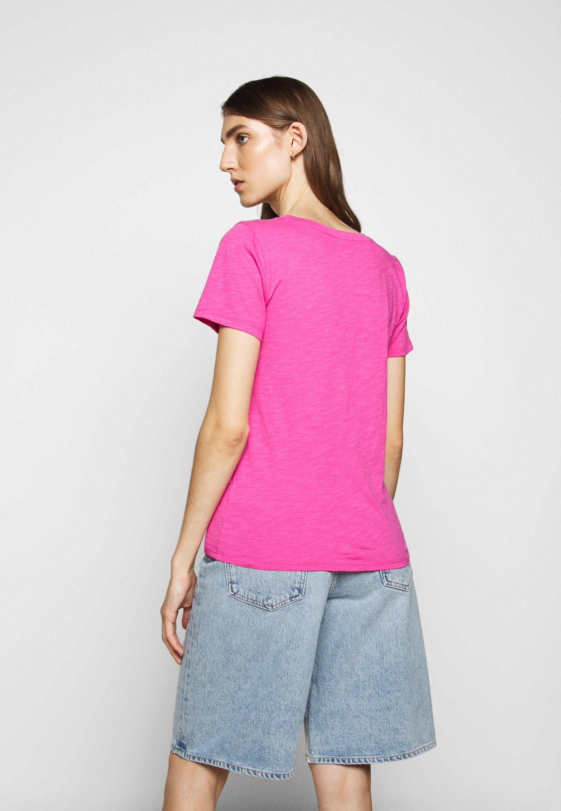 J.CREW TEAM BEACH TEE - T-shirts med print - vibrant fuchsia