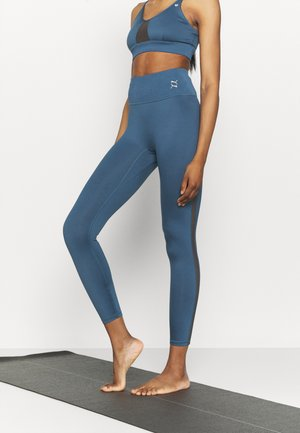 EXHALE HIGH WAIST FULL - Medias - ensign blue