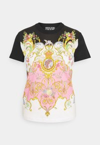 Versace Jeans Couture - LADY - Print T-shirt - black/pink - 4