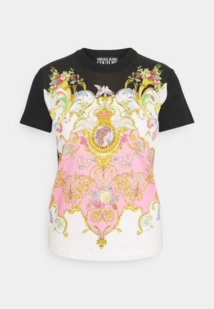 LADY - T-shirt z nadrukiem - black/pink