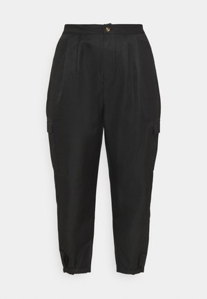 BALLOON UTILITY TROUSERS - Trousers - black
