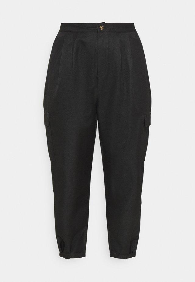 BALLOON UTILITY TROUSERS - Trousers - black