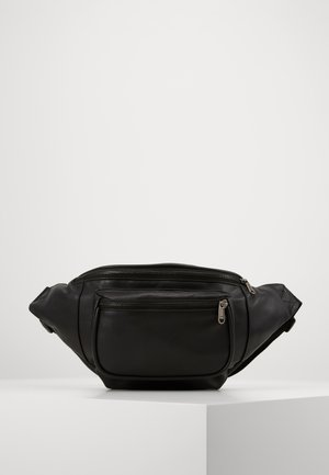 DOUBLE ZIP SHOULDER BAG - Ledvinka - black