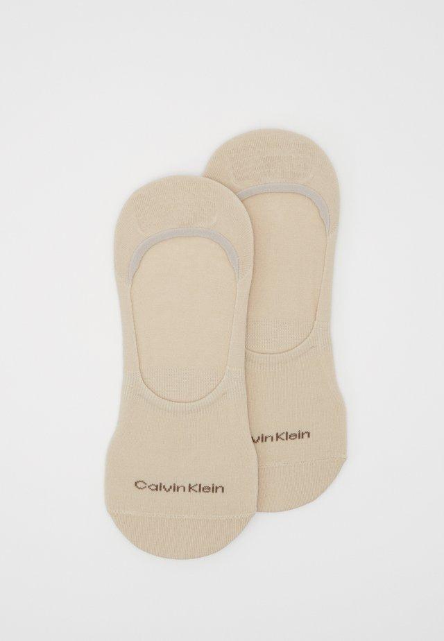MEN NO SHOW 2 PACK - Trainer socks - sand combo