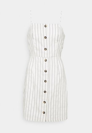 ONLEMBER CLEO SSHORT STRIPE DRESS - Day dress - moonbeam/black