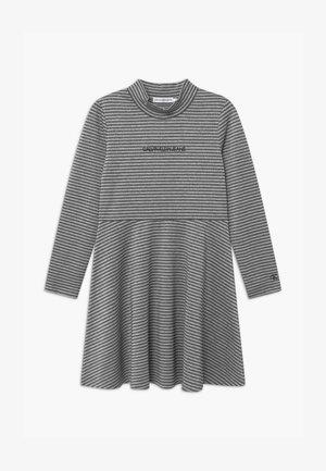 STRIPED SKATER  - Žerzejové šaty - black