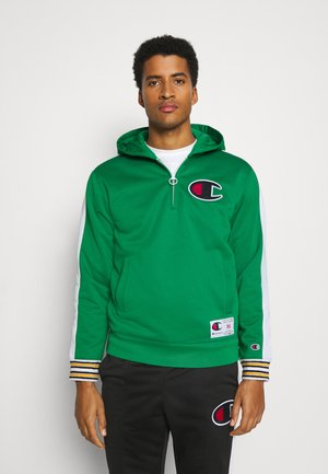 HALF ZIP HOODED - Bluza z kapturem - green