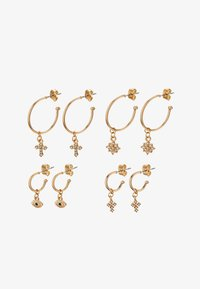 Pieces - PCNAOMI HOOP EARRINGS 4 PACK - Earrings - gold-coloured/green - 1