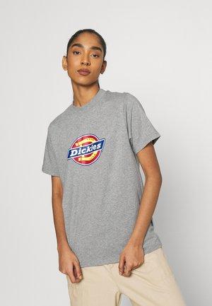ICON LOGO TEE - Print T-shirt - grey melange