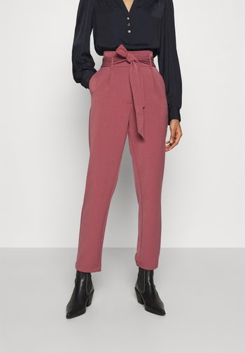 ONLSUNNY PAPERBAG BELT PANT - Trousers - apple butter