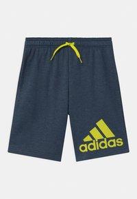 adidas Performance - UNISEX - Sportovní kraťasy - dark blue/neon yellow - 0