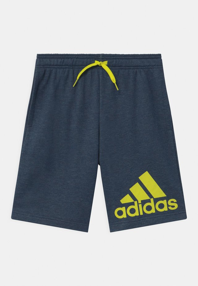 UNISEX - kurze Sporthose - dark blue/neon yellow