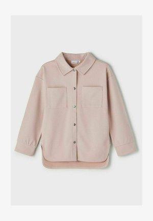 Button-down blouse - pale mauve